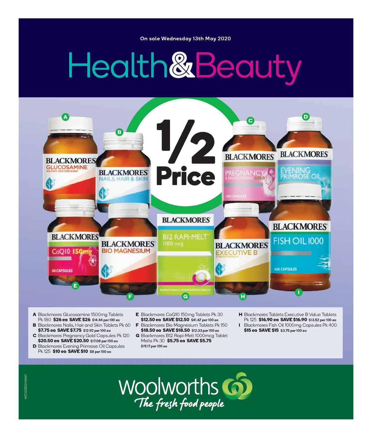 Woolworths Health & Beauty Catalogues from May 13