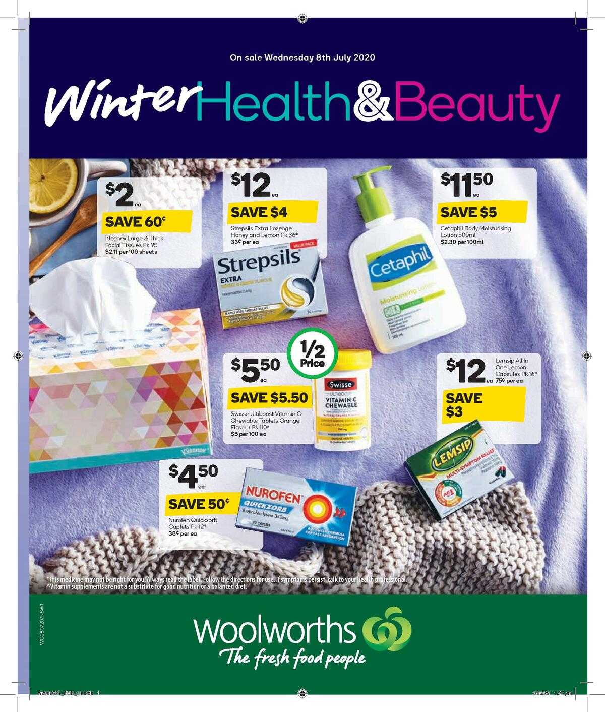 Woolworths Health & Beauty Catalogues from July 8
