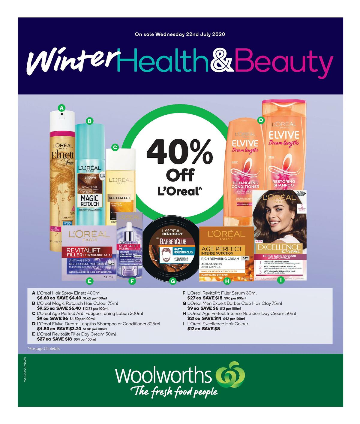 Woolworths Health & Beauty Catalogues from July 22