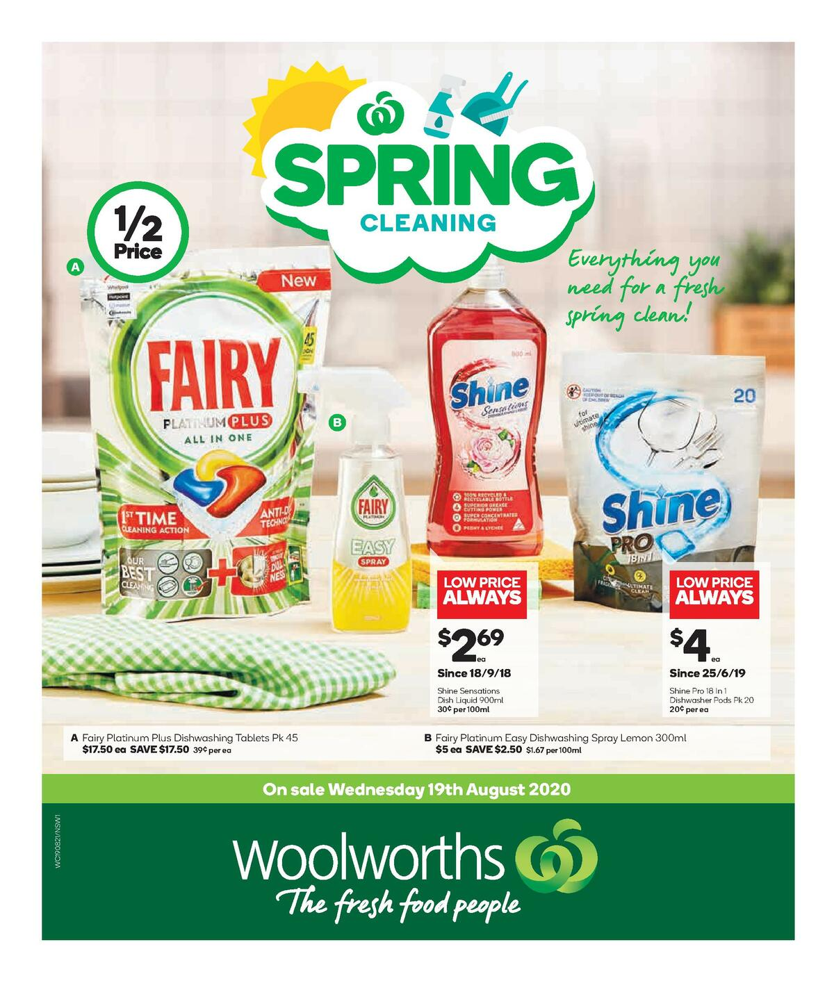 Woolworths Spring Cleaning Catalogues from August 19