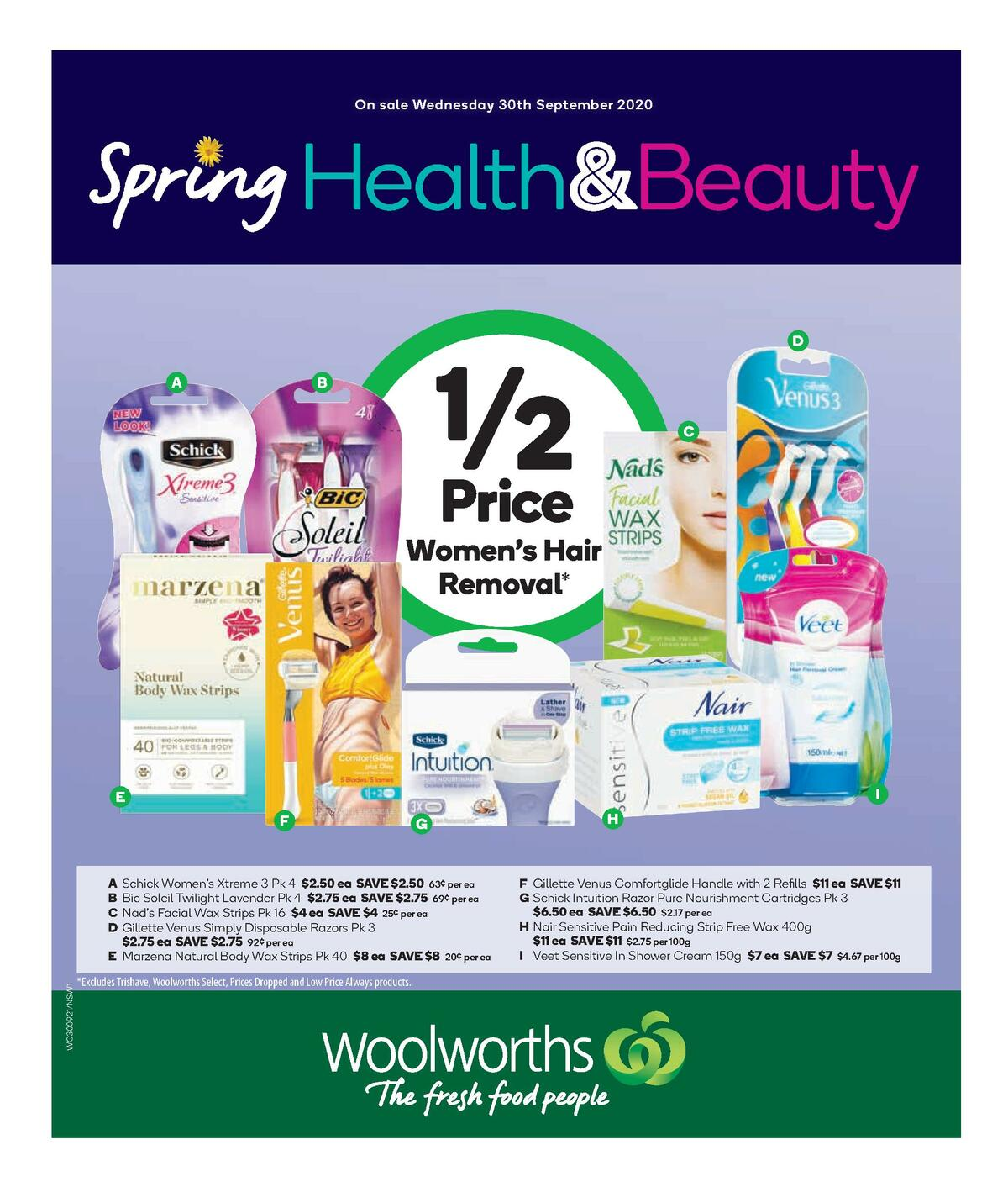 Woolworths Health & Beauty Catalogues from September 30