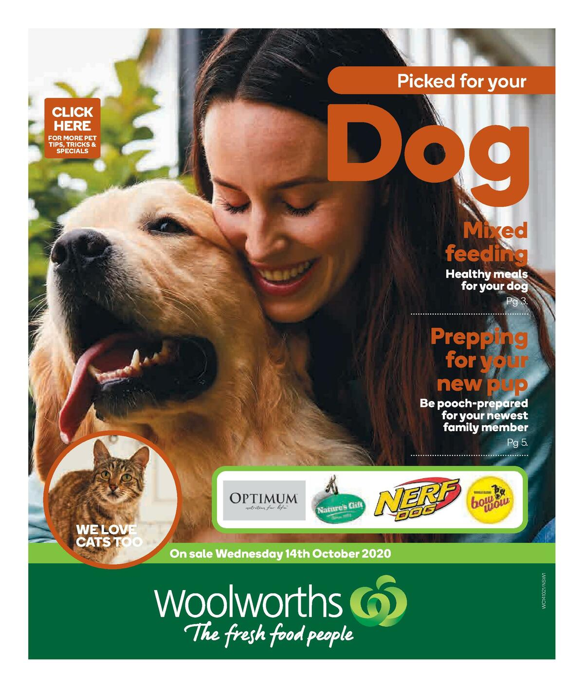 Woolworths Pet Catalogues from October 14