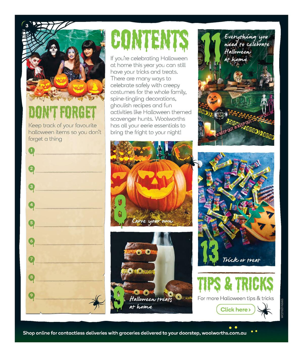 Woolworths Happy Halloween Catalogues from October 21