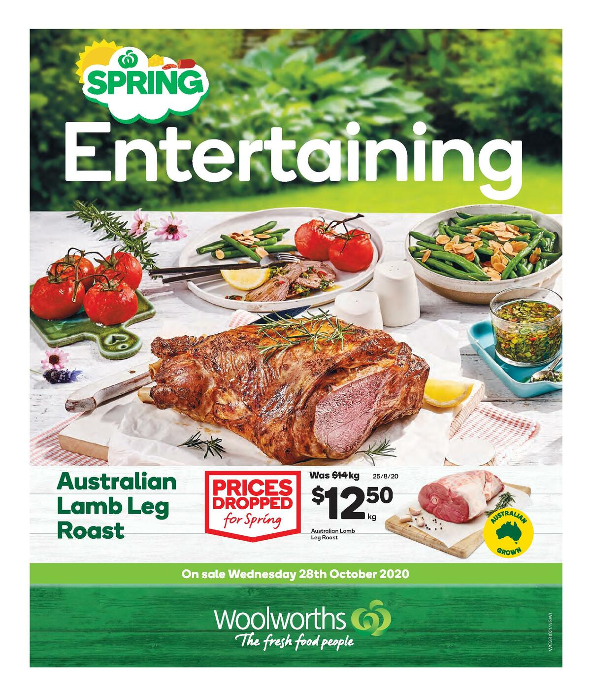 Woolworths Spring Entertaining Catalogues from October 28