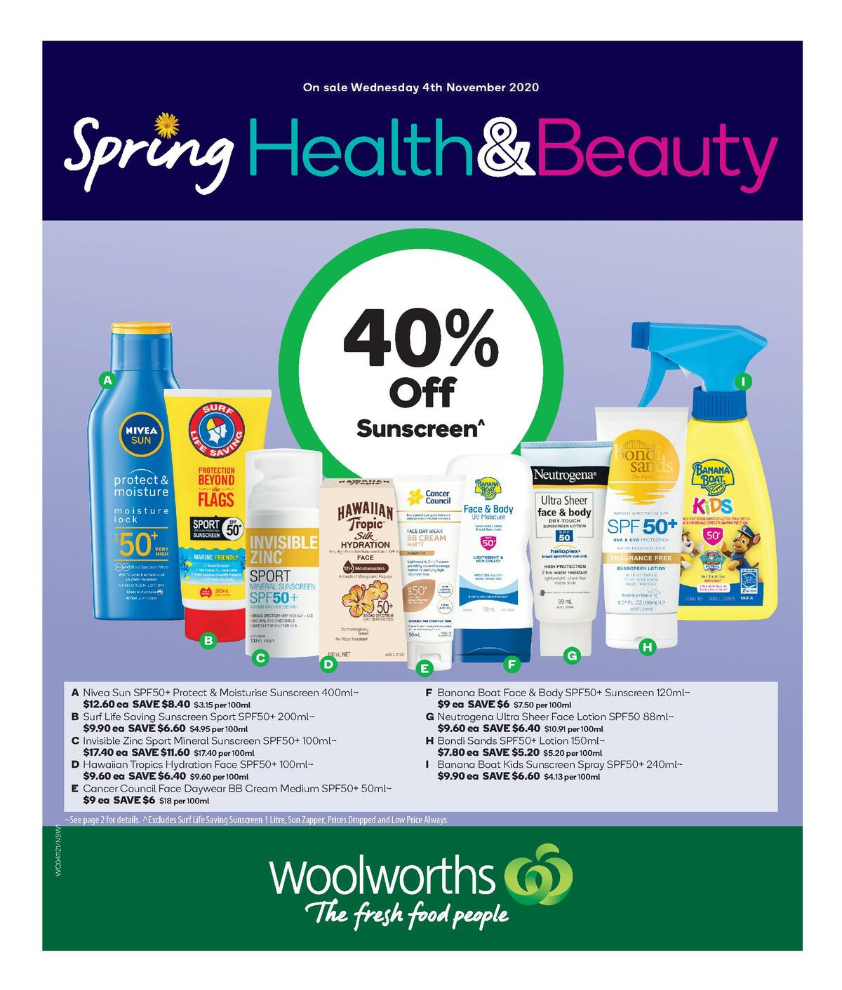 Woolworths Health & Beauty Catalogues from November 4