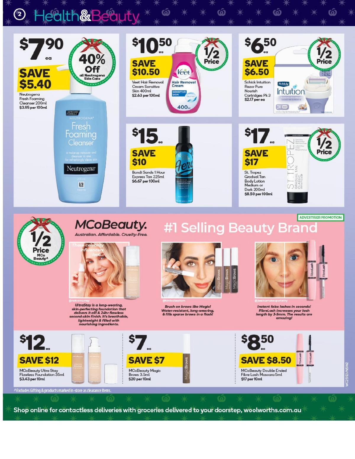 Woolworths Health & Beauty Catalogues from November 25