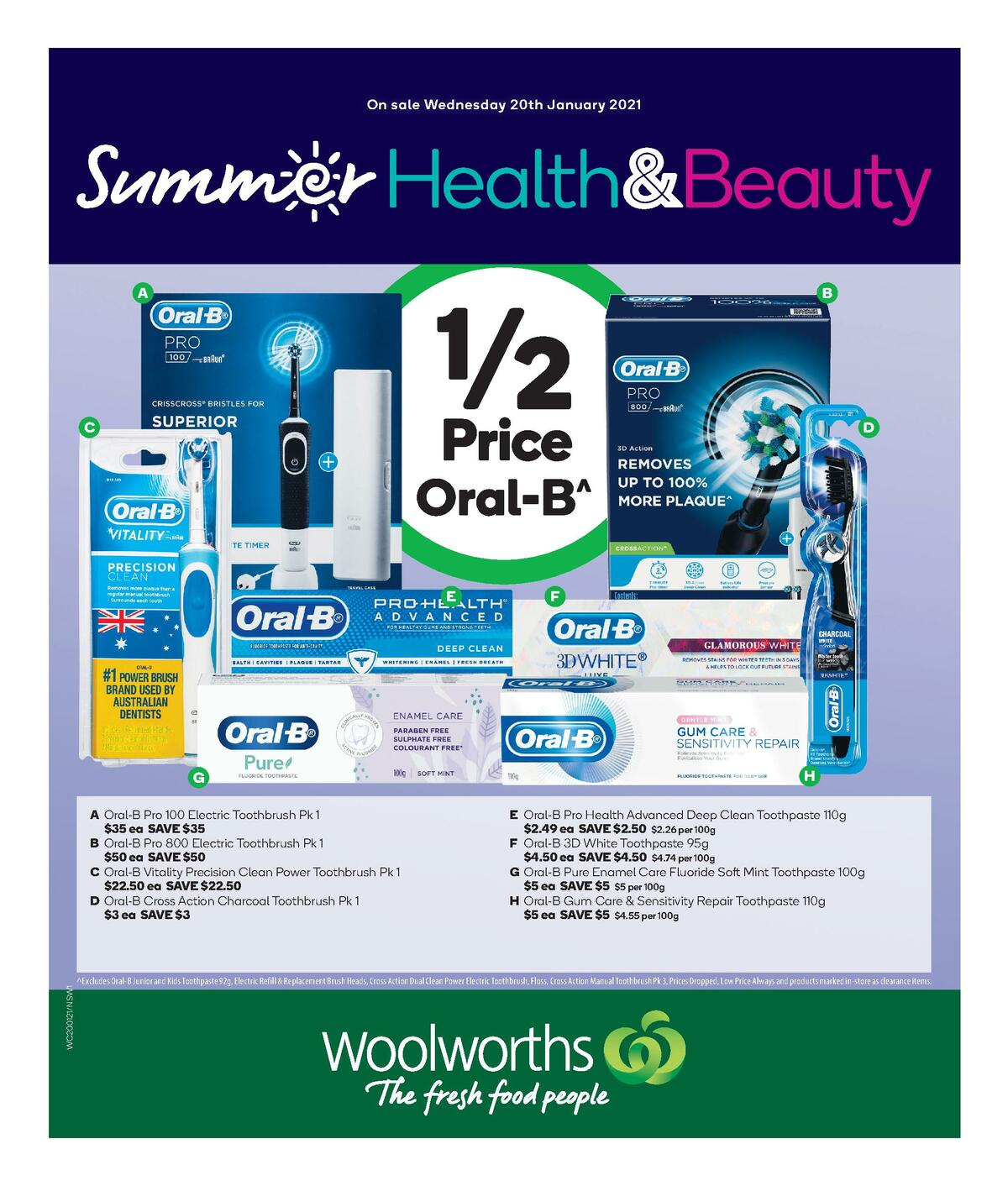 Woolworths Health & Beauty Catalogues from January 20