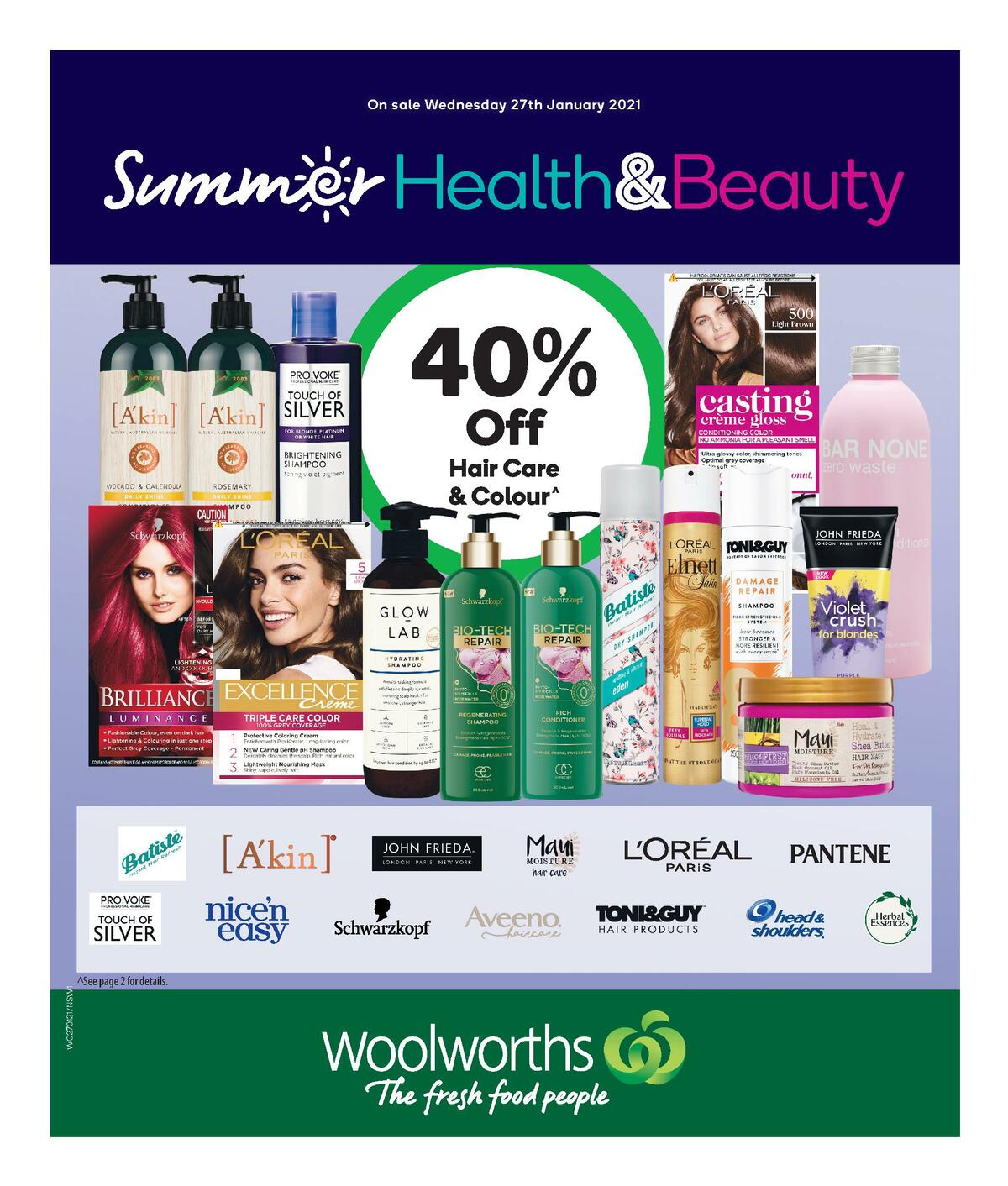 Woolworths Health & Beauty Catalogues from January 27