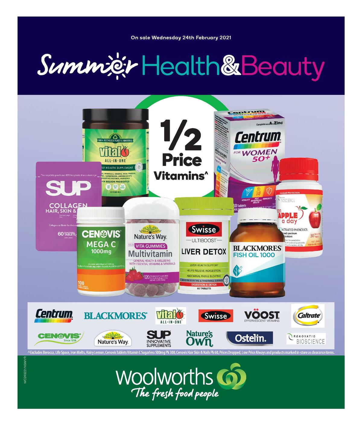Woolworths Health & Beauty Catalogues from February 24
