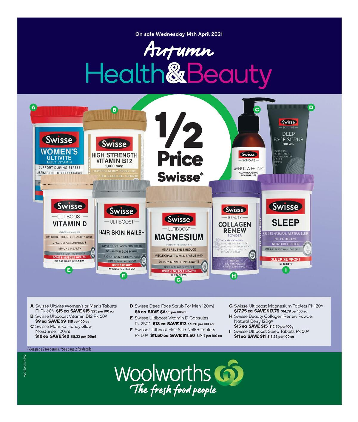 Woolworths Health & Beauty Catalogues from April 14