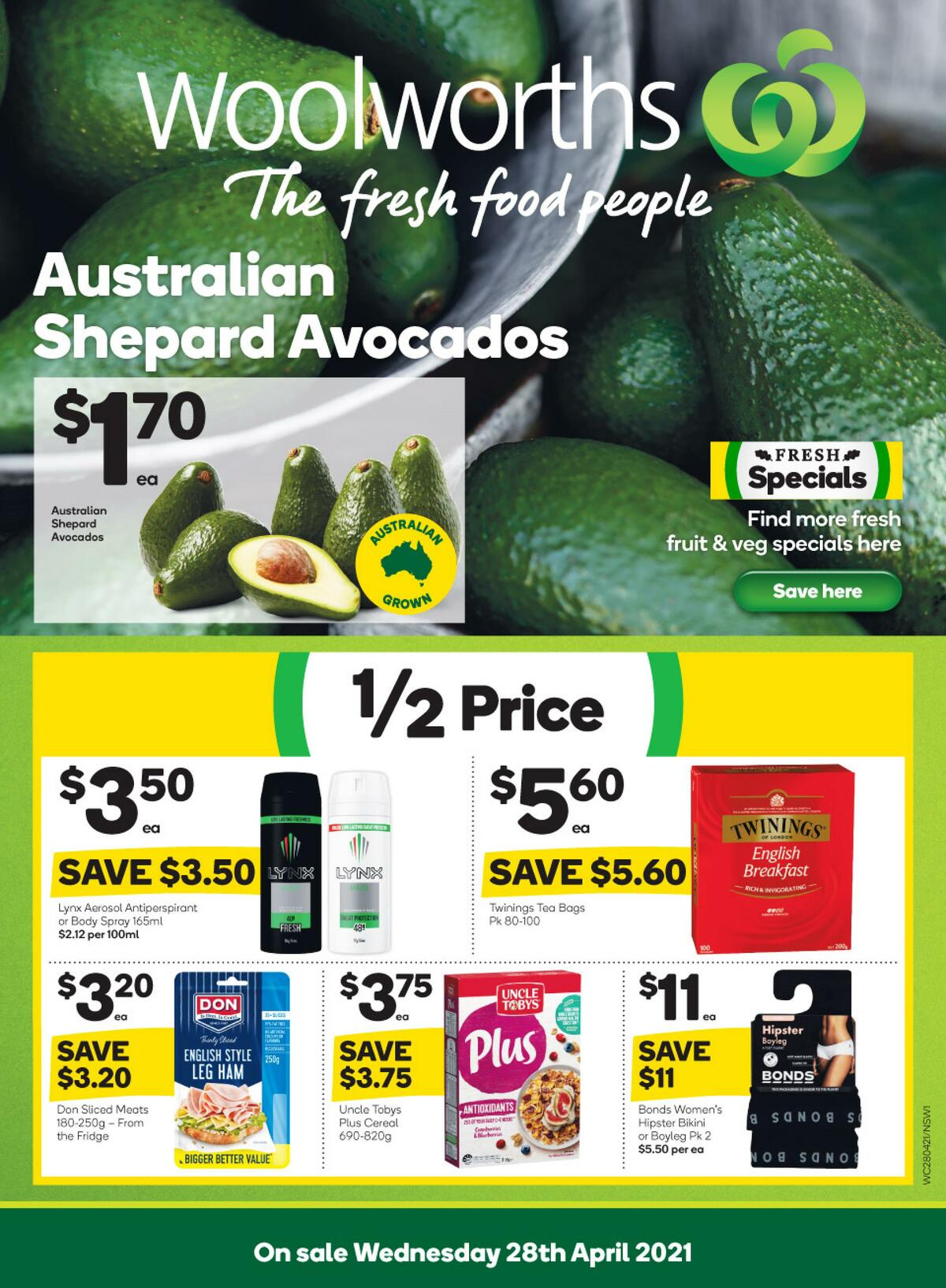 Woolworths Catalogues from April 28