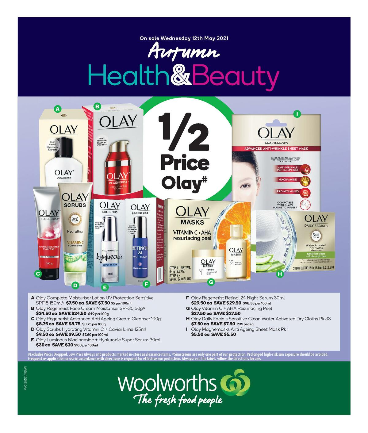 Woolworths Health & Beauty Catalogues from May 12