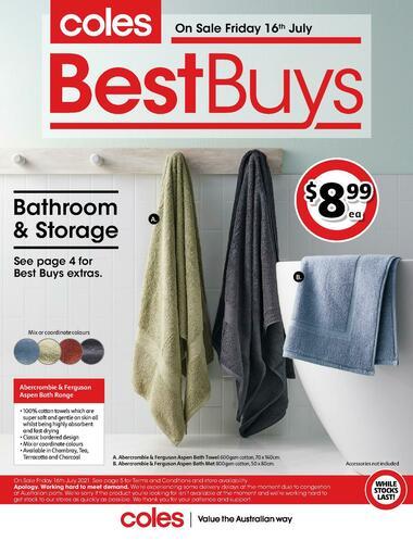 Coles Best Buys - Bathroom & Storage