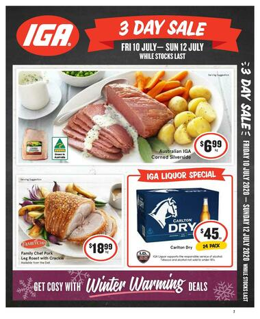 IGA 3 Day Sale